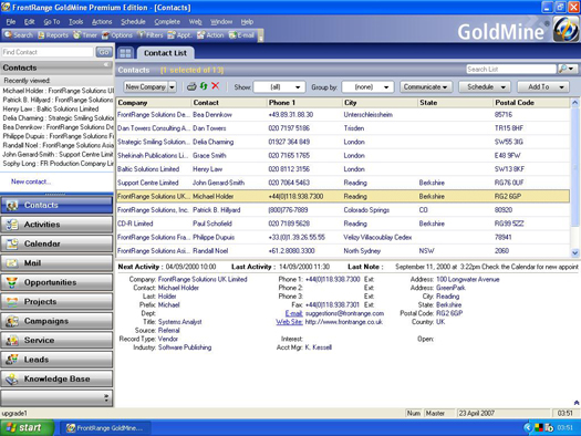 Goldmine CRM Software